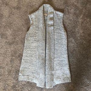 Loft gray sweater vest